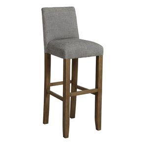 Chaise haute en tissu gris chambray - Ariane - Visuel n°2