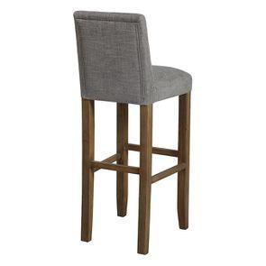 Chaise haute en tissu gris chambray - Visuel n°6