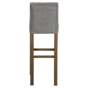 Chaise haute en tissu gris chambray - Visuel n°7