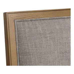Chaise en tissu gris chambray - Honorine - Visuel n°8