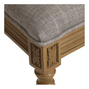 Chaise en tissu gris chambray - Honorine - Visuel n°9