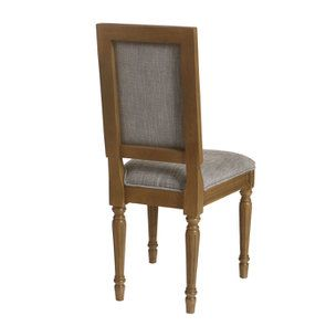 Chaise en tissu gris chambray - Honorine - Visuel n°4