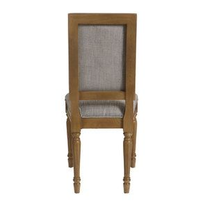 Chaise en tissu gris chambray - Honorine - Visuel n°5
