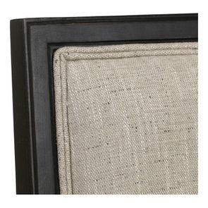 Fauteuil en tissu mastic grisé et hévéa noir - Honoré - Visuel n°8