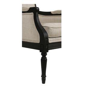 Fauteuil en tissu mastic grisé et hévéa noir - Honoré - Visuel n°11