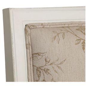 Fauteuil en tissu paradisier et hévéa massif blanc - Honoré - Visuel n°8