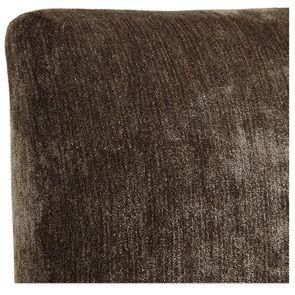 Chaise haute en velours bronze et métal - Lauren - Visuel n°7