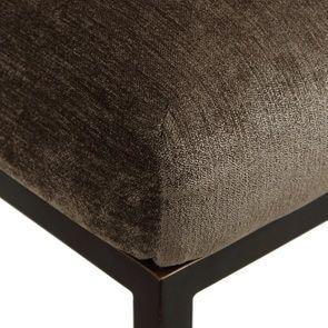 Chaise haute en velours bronze et métal - Lauren - Visuel n°8