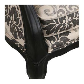 Banquette 3 places en hévéa et tissu arabesque - Constance - Visuel n°8