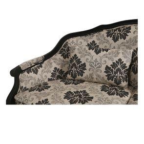 Banquette 3 places en hévéa et tissu arabesque - Constance - Visuel n°10