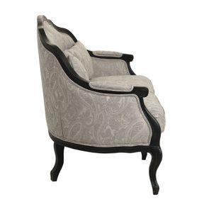 Banquette 3 places en tissu cachemire gris - Constance - Visuel n°8