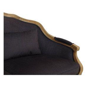 Banquette 3 places en frêne et tissu gris anthracite toucher velours - Constance - Visuel n°8