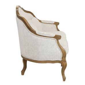 Banquette 3 places en tissu arabesque perle - Constance - Visuel n°5