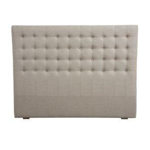 Tête de lit capitonnée 140/160 cm en hévéa et tissu - Capucine