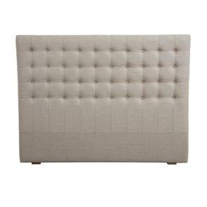 Tête de lit capitonnée 160 en hévéa et tissu - Capucine - Visuel n°1