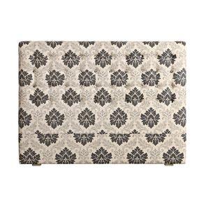 Tête de lit capitonnée 140/160 cm en hévéa et tissu arabesque - Capucine