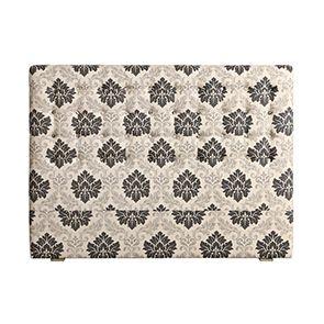 Tête de lit capitonnée 160 en hévéa et tissu arabesque - Capucine