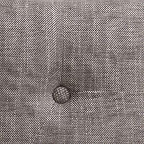 Tête de lit capitonnée 160 en hévéa et tissu gris chambray - Capucine - Visuel n°3