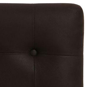 Tête de lit capitonnée 160 en hévéa et éco-cuir chocolat - Capucine