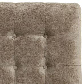 Tête de lit capitonnée 160 en hévéa noir et tissu velours taupe - Capucine - Visuel n°2