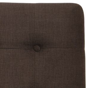 Tête de lit capitonnée 160 en frêne et tissu marron glacé - Capucine