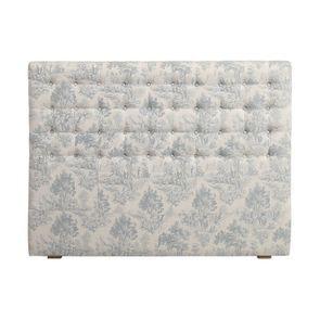 Tête de lit capitonnée 140/160 cm en frêne et tissu toile de Jouy - Capucine
