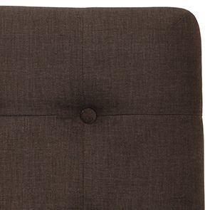 Tête de lit capitonnée 160 en frêne et tissu marron glacé - Capucine - Visuel n°2