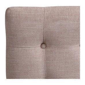 Tête de lit 140/160 cm cm en tissu vieux rose capitonné - Capucine - Visuel n°7