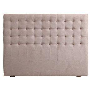Tête de lit 160 cm en tissu vieux rose capitonné - Capucine
