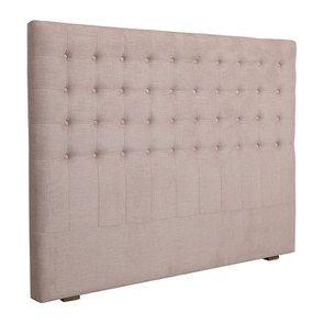 Tête de lit 140/160 cm cm en tissu vieux rose capitonné - Capucine - Visuel n°2