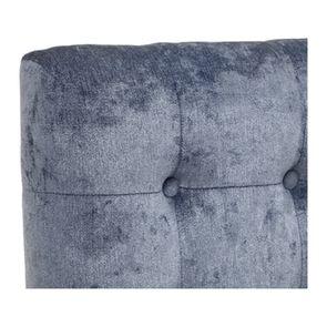Tête de lit 140/160cm en tissu velours bleu capitonné - Capucine - Visuel n°7