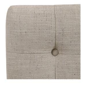 Tête de lit 140/160 cm en tissu mastic grisé capitonné - Capucine
