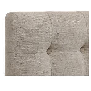 Tête de lit 140/160cm en tissu mastic grisé capitonné - Capucine - Visuel n°7