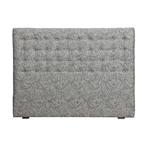 Tête de lit capitonnée 160 en frêne et tissu mosaïque indigo - Capucine