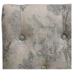 Banc en hévéa et tissu toile de Jouy - Louison - Visuel n°8