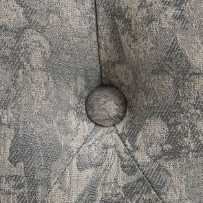 Banc en hévéa et tissu toile de Jouy - Louison - Visuel n°11