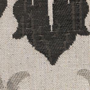 Banc en tissu arabesque et hévéa massif noir - Louison - Visuel n°13