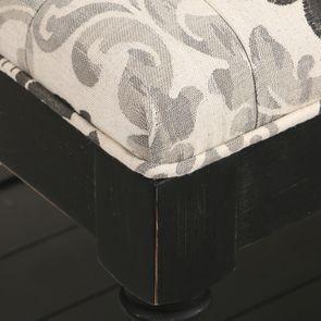 Banc en tissu arabesque et hévéa massif noir - Louison - Visuel n°15