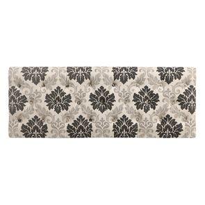 Banc en tissu arabesque et hévéa massif noir - Louison - Visuel n°17
