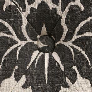 Banc en tissu arabesque et hévéa massif noir - Louison - Visuel n°19