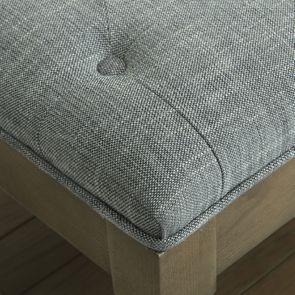 Banc en frêne et tissu gris chambray – Louison - Visuel n°4