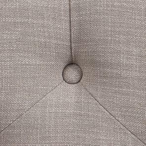 Banc hévéa blanc et tissu beige - Louison