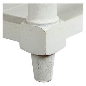 Banc en hévéa blanc et tissu losange gris - Louison - Visuel n°6