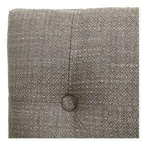 Banc en hévéa blanc et tissu losange gris - Louison - Visuel n°9