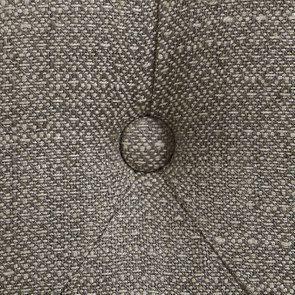 Banc en hévéa blanc et tissu losange gris - Louison - Visuel n°10