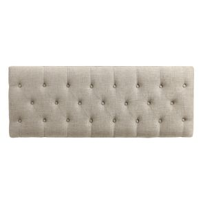 Banc en tissu mastic grisé et hévéa massif blanc - Louison - Visuel n°33