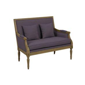 Banquette 2 places en tissu violet - Victoire
