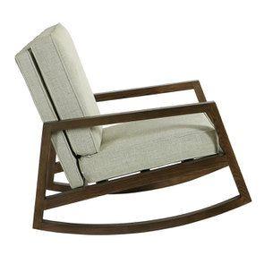 Rocking chair en tissu vert amande - Harold - Visuel n°3