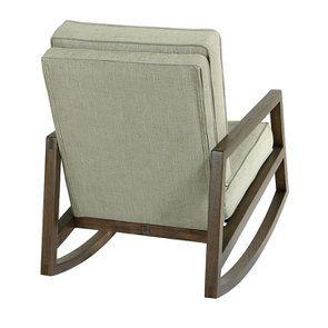 Rocking chair en tissu vert amande - Harold - Visuel n°4