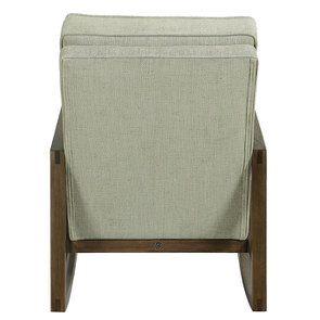 Rocking chair en tissu vert amande - Harold - Visuel n°5